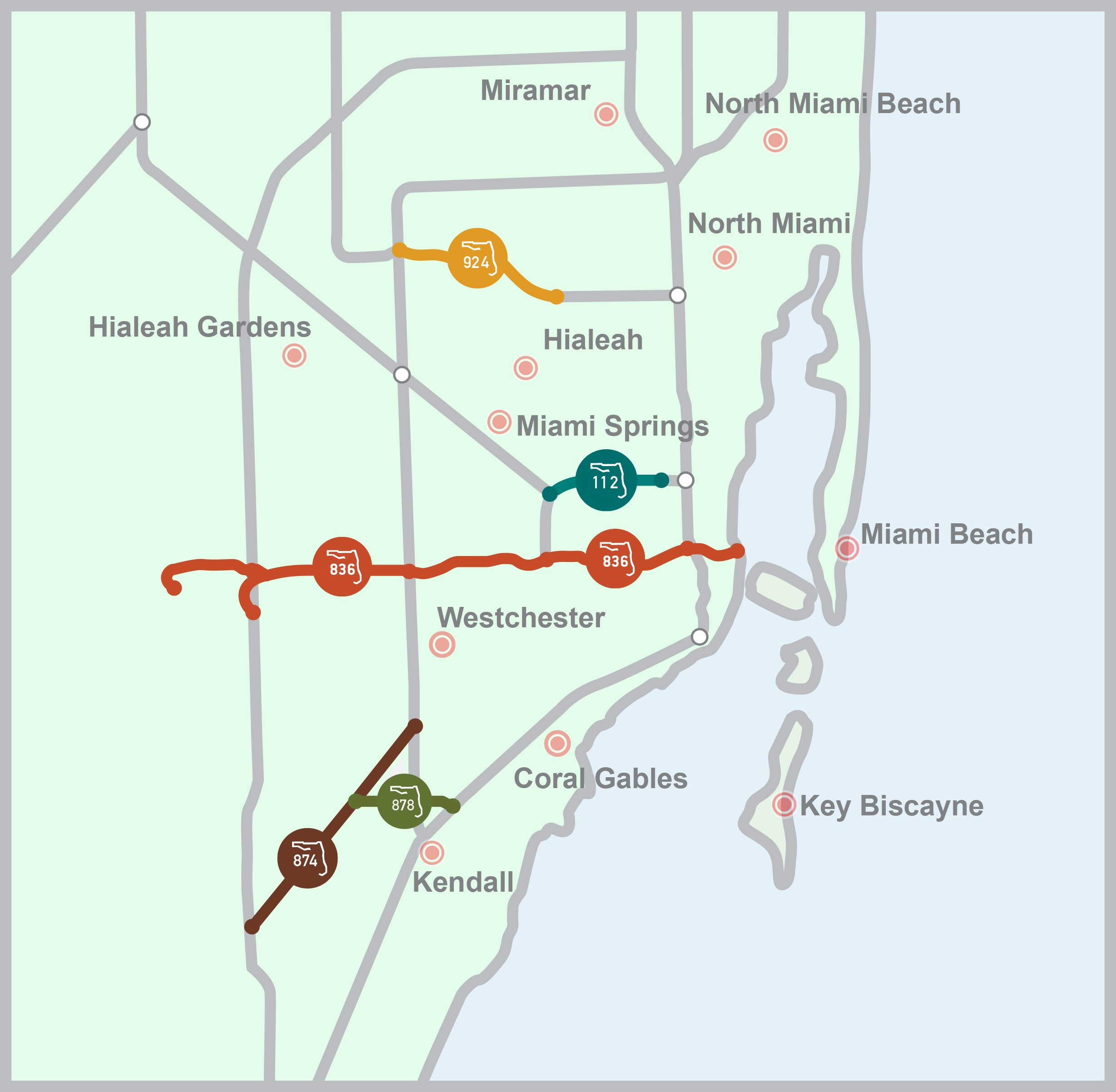 Toll Roads In Florida Map.About Mdx Expressway Map